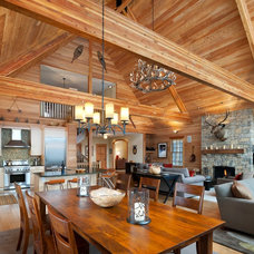 Rustic Dining Room by E. B. Mahoney Builders, Inc.