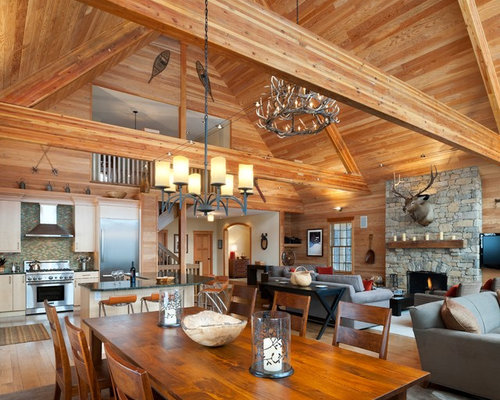 Open floor plan ideas pictures remodel and decor for Rustic open floor plans