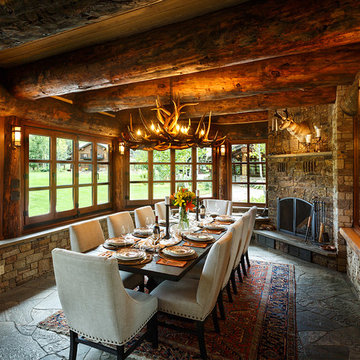 Elk Park Ranch Main House Dining