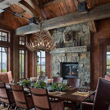 Traditional Dining Room by Carole Sisson Designs