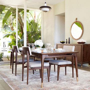 Ellen DeGeneres - Relaxed Mid-Century Dining Room