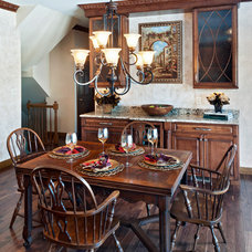 Traditional Dining Room by Custom Stone Interiors, Inc
