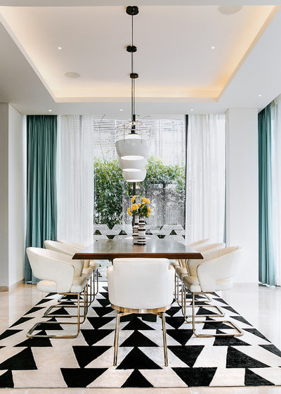 Contemporary Dining Room by Shalini George Interiors