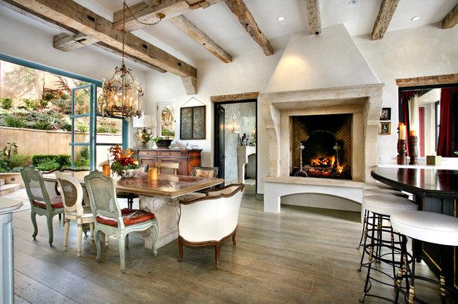 Mediterranean Dining Room by Prestige Builders