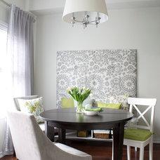 Transitional Dining Room by Christine Elliott Designs