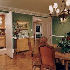 Mediterranean Dining Room by Gleicher Design - Architecture & Interiors