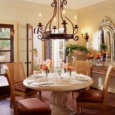Mediterranean Dining Room by Jamie Herzlinger