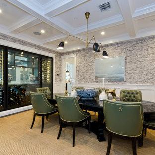75 Beautiful Wainscoting Dining Room, Dining Room Wallpaper Wainscoting