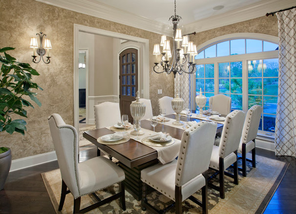Transitional Dining Room by Possibilities for Design Inc.