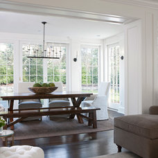 Traditional Dining Room by Marianne Jones LLC