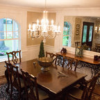 Earthy And Elegant Dining Room Traditional Dining Room