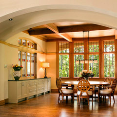 contemporary dining room by McDonald Architects, LLC