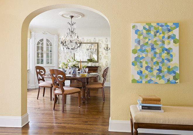 Traditional Dining Room by Lucy Interior Design