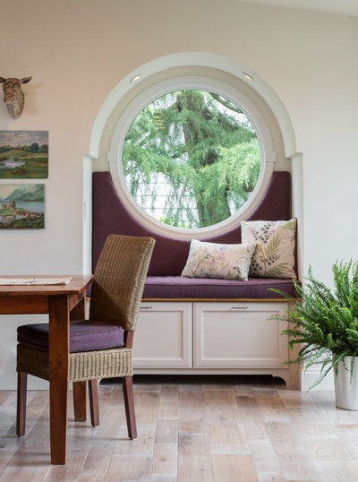Transitional Dining Room by Robinson Interiors