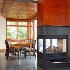 Contemporary Dining Room by Dan Nelson, Designs Northwest Architects
