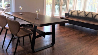 English Walnut Table w/Waterfall Bench