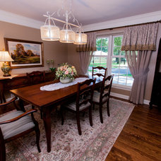 Transitional Dining Room by One Stop Decorating Center
