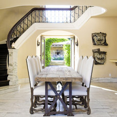 Mediterranean Dining Room by Lori Smyth Design