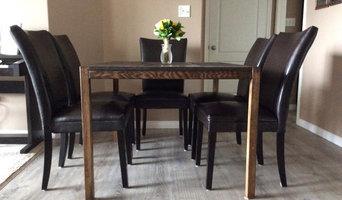 """Espresso"" Oak Dining Table"