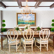 Traditional Dining Room by Cindy Ross Interior Design
