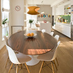 roundhouse white kitchens contemporary dining room. Black Bedroom Furniture Sets. Home Design Ideas