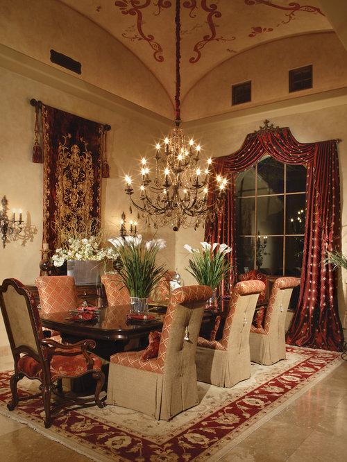 mediterrane esszimmer mit travertin ideen design bilder houzz. Black Bedroom Furniture Sets. Home Design Ideas