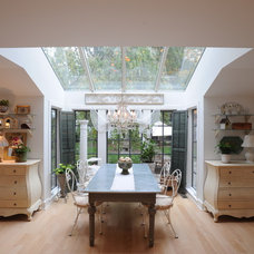 Farmhouse Dining Room by George Clemens Architecture, INC