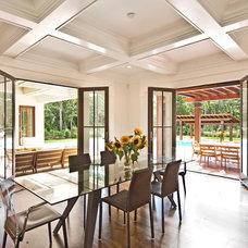 Mediterranean Dining Room by Perello Building Corporation