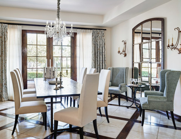 Mediterranean Dining Room by The Refined Group
