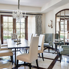 Mediterranean Dining Room by Palm Design Group