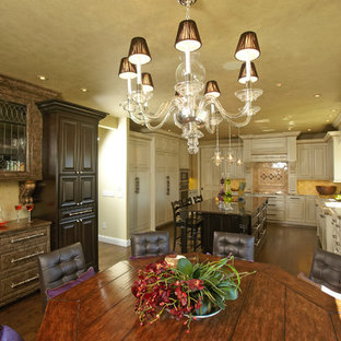 Kitchen/dining room combo - traditional kitchen/dining room combo idea in Minneapolis