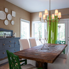 Transitional Dining Room by Cyndi Parker Interiors