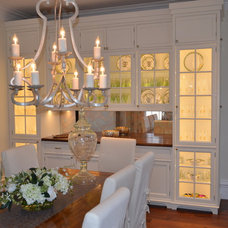 Farmhouse Dining Room by Pennville Custom Cabinetry