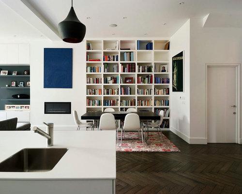 Recessed Bookshelf Ideas, Pictures, Remodel and Decor