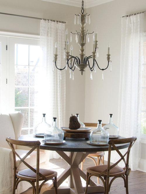 Great Inspiration For A Mid Sized Transitional Dark Wood Floor Kitchen/dining  Room Combo Remodel