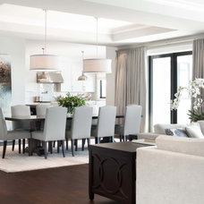 Contemporary Dining Room by Kelly Deck Design