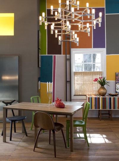farbkontraste ? basiswissen für den einsatz von farben im interior - Esszimmer Design Schwarz Weis Kontraste