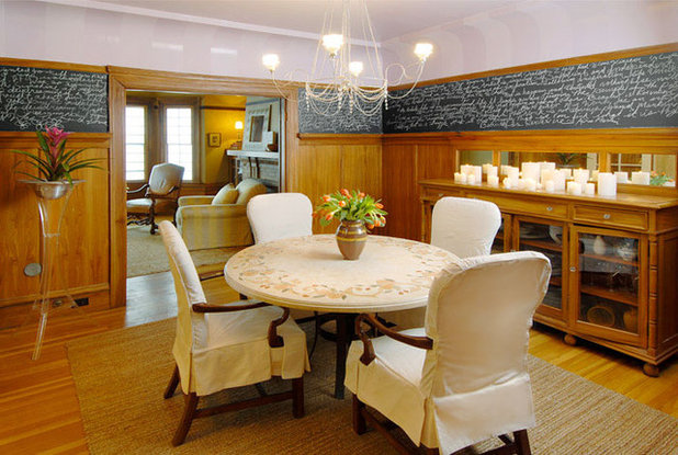 Eclectic Dining Room by Faiella Design