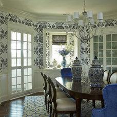 Transitional Dining Room by Martha O'Hara Interiors
