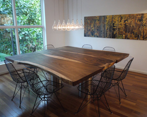 Raw Wood Table ~ Raw edge wood dining table ideas pictures remodel and decor