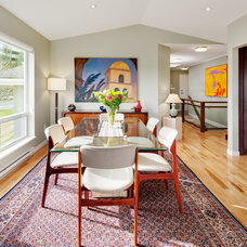 Transitional Dining Room by B. Gallant Homes Ltd.