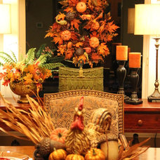Traditional Dining Room Fall Dining Room Tablescape