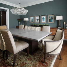 Transitional Dining Room by Morgante Wilson Architects