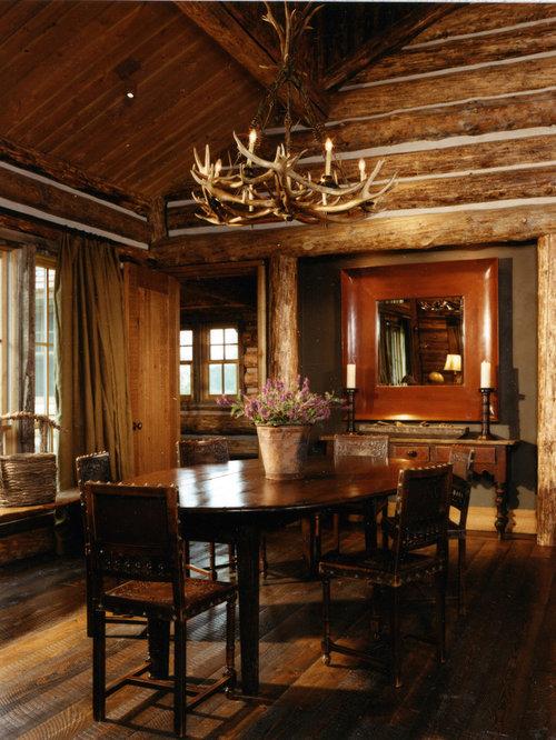 Rustic Dining Room Idea In Atlanta