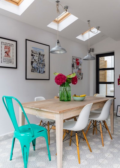 Transitional Dining Room by VORBILD Architecture
