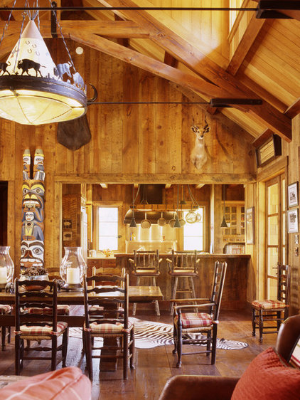 Rustic Dining Room by Tucker & Marks