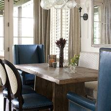Transitional Dining Room by Heather Garrett Design