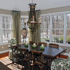 Eclectic Dining Room by Drapery Street