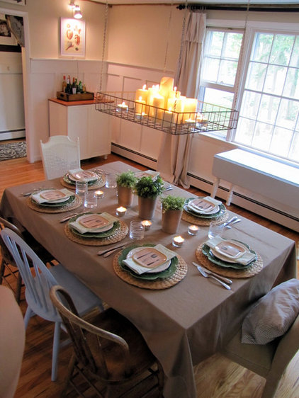 traditional dining room by The Painted Home