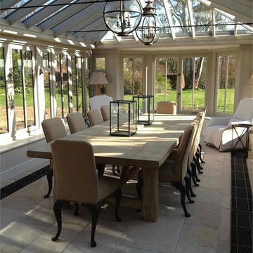 """Farmhouse """"Chic"""" -- Conservatory / Dining Room"""